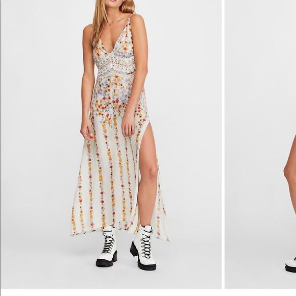 7ba4df459d504 Free People Dresses | Claire Printed Maxi Slip Dress | Poshmark